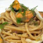 Domenica d'estate spaghetti alla carbonara di cozze