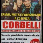 Franco Corbelli fa arrabbiare Ermal Meta per un manifesto