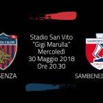 Serie C, quarti di finale playoff: Cosenza vs Sambenedettese